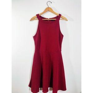 Dresses & Skirts - Maroon Textured Mock-Neck Dress • Women's XL